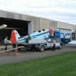 Transport der EJOL vom Flugplatz Eutingen in die Werkstatt