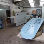 Aufladen der bereits lackierten Flächen und Transport in unsere Werkstatt