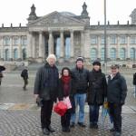 Klemmfreunde vor dem Reichstag