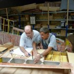 Klemm KL 35 Roland und Gerhard beim Schaeften